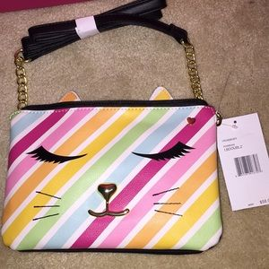 Betsey Johnson rainbow crossbody